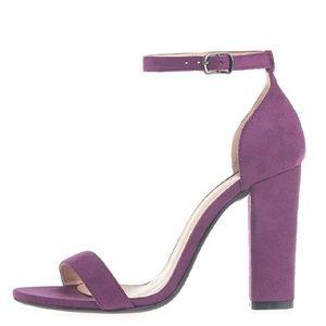 GATSBY Purple Heeled Sandals